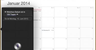 Siri-Datumsberechnung