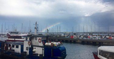 Foto mit Regenbogen