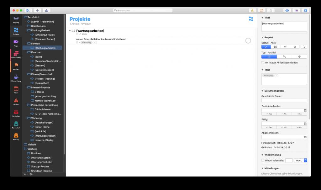 OmniFocus auf macOS