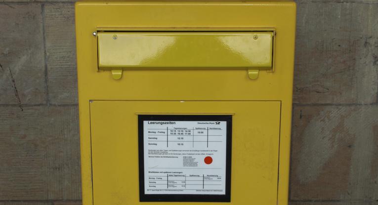 Foto eines Briefkastens