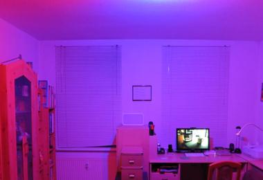 Raum mit Hue-Beleuchtung