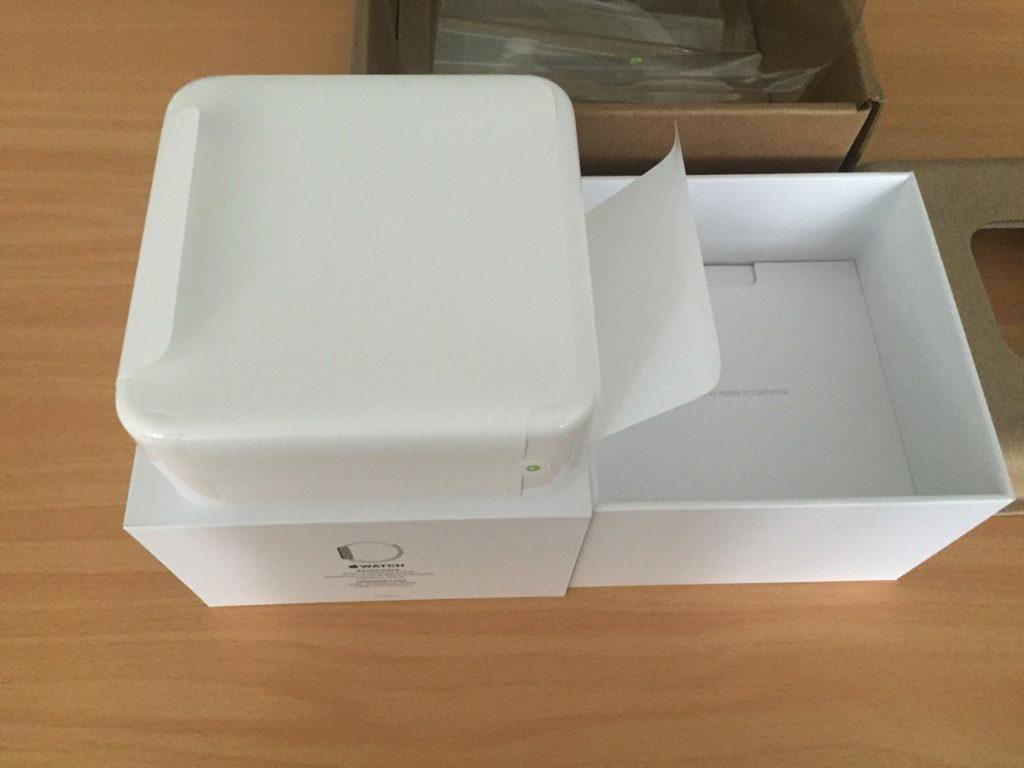 Foto der inneren Verpackung auf der leeren Schachtel