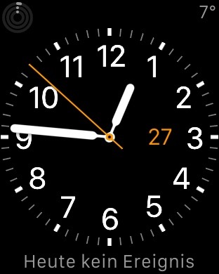 Screenshot des Watchfaces