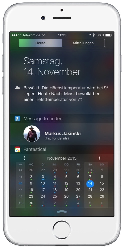 Screenshot vom Finder-Info-Widget