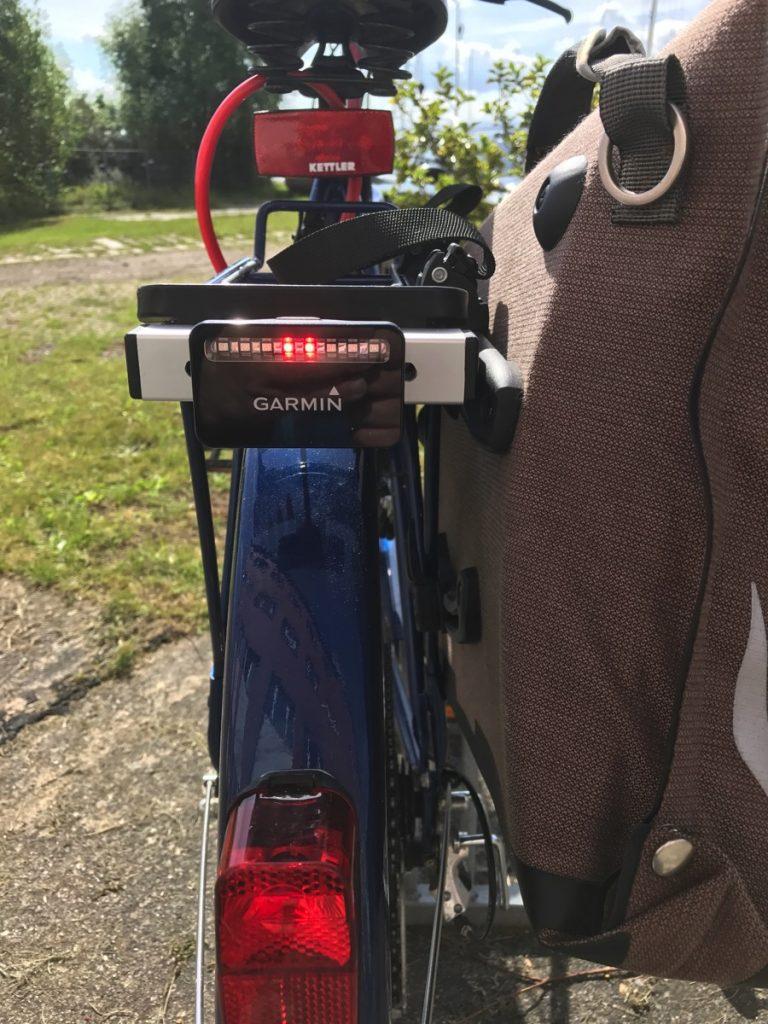 Garmin-Varia-Rücklicht an meinem Fahrrad