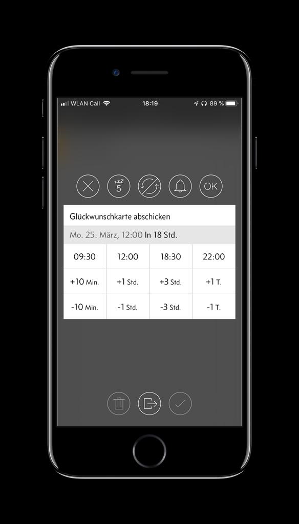 Screenshot der Due-App auf dem iPhone