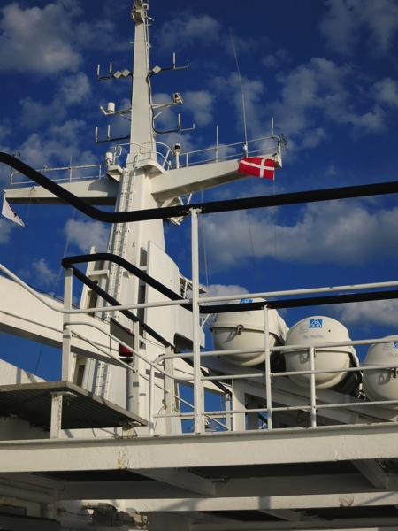 Foto von der Fähre nach Dänemark