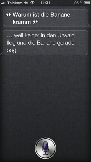 Screenshot von Siri auf dem iPhone 5