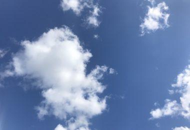 Foto einer Wolke