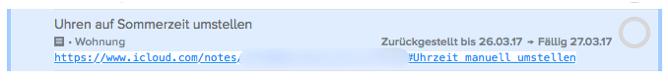 Screenshot der verlinkten Notiz in OmniFocus