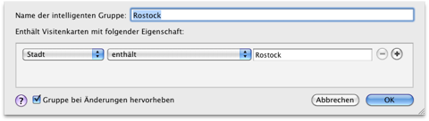Screenshot der intelligenten Gruppe Rostock