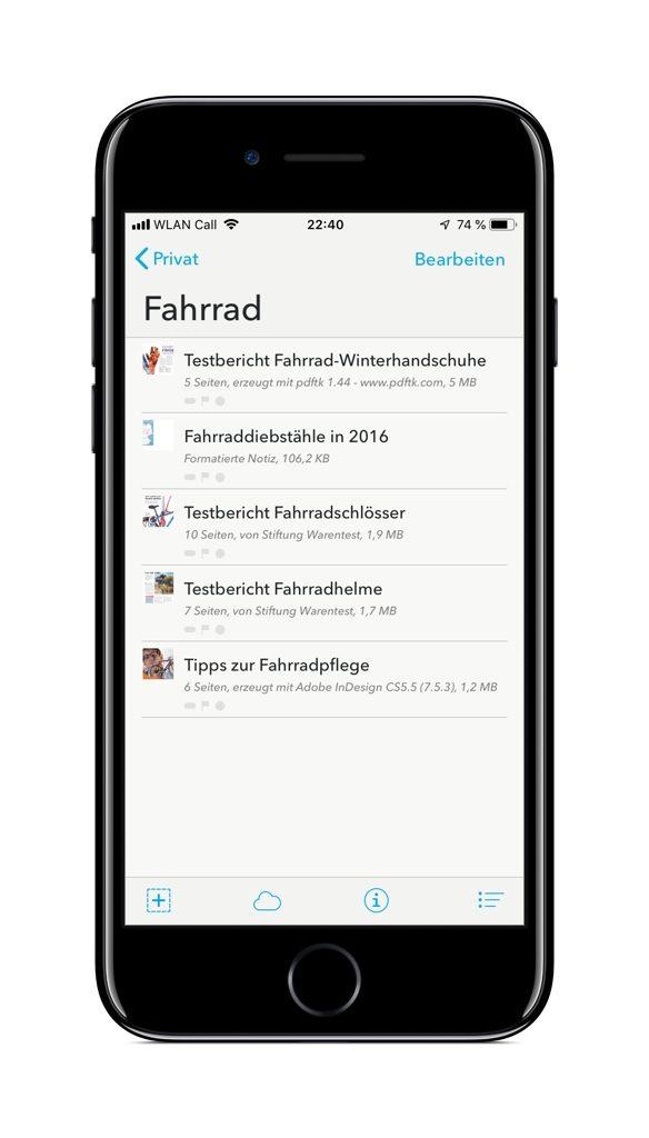 Screenshot von DEVONthink für iOS