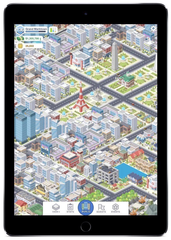 Screenshot meiner bisher größten Stadt in Pocket City