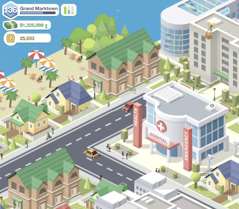 Screenshot einer Detailansicht in Pocket City
