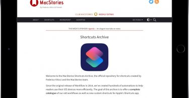 MacStories Shortcuts Archive