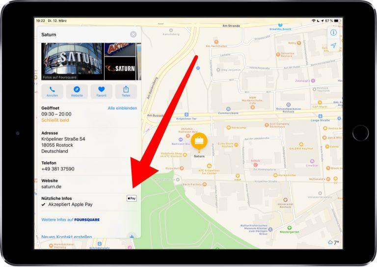 Screenshot der Karten-App