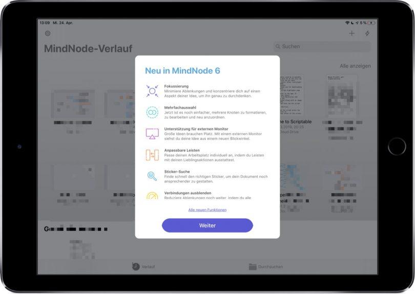 Screenshot von MindNode 6