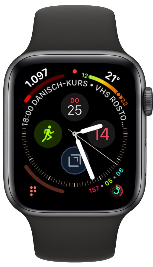 Screenshot der Apple Watch