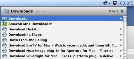 Screenshot der Suche nach Dateien und Ordnern