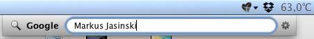 Screenshot der Suchbegriff-Eingabe