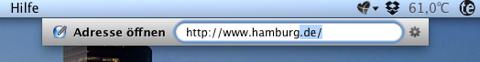 Screenshot einer Webseiten-Suche