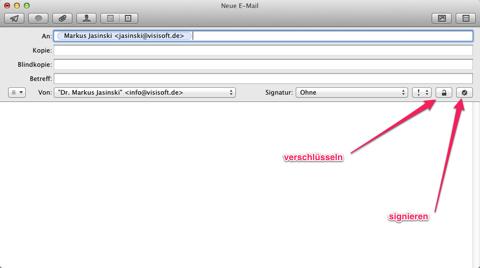 Screenshot der Mail-App