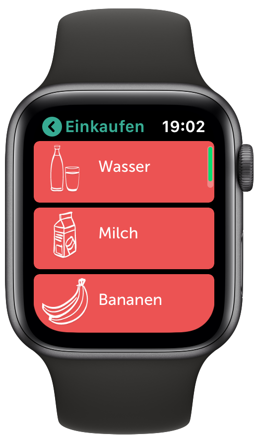 Bring-App auf der Apple Watch