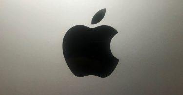 Apple-Logo Schwarz auf Silber