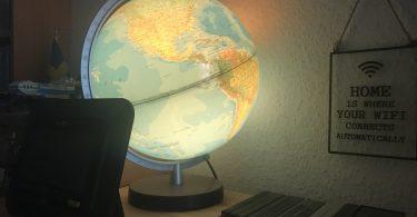 Foto eines Globus