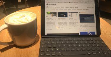 Foto meines iPad Pro im Café