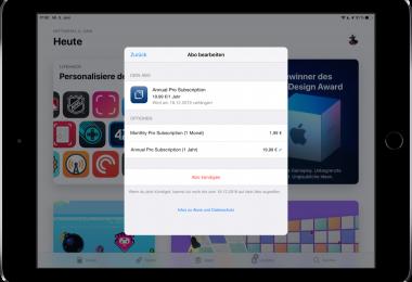 iOS-Aboeinstellungen