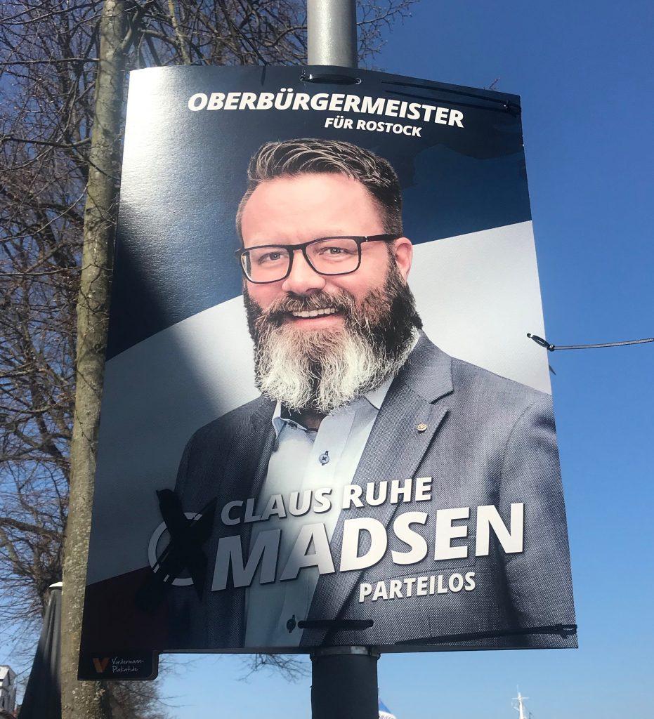 Wahlplakat von Claus Ruhe Madsen