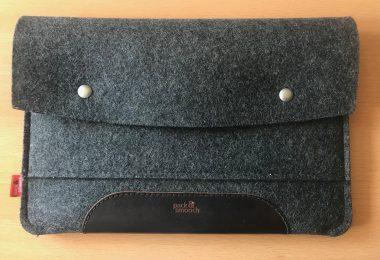 Foto der iPad-Hülle im geschlossenen Zustand