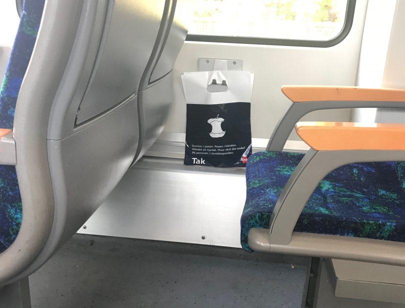 Foto aus einem dänischen Regionalzug