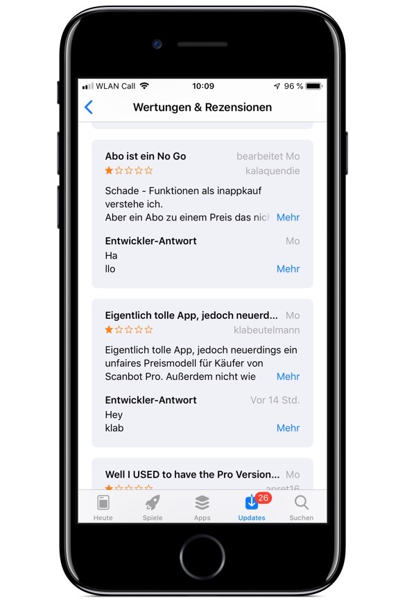 Screenshot von Scanbot im App Store