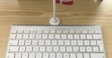 Foto einer Mac-Tastatur