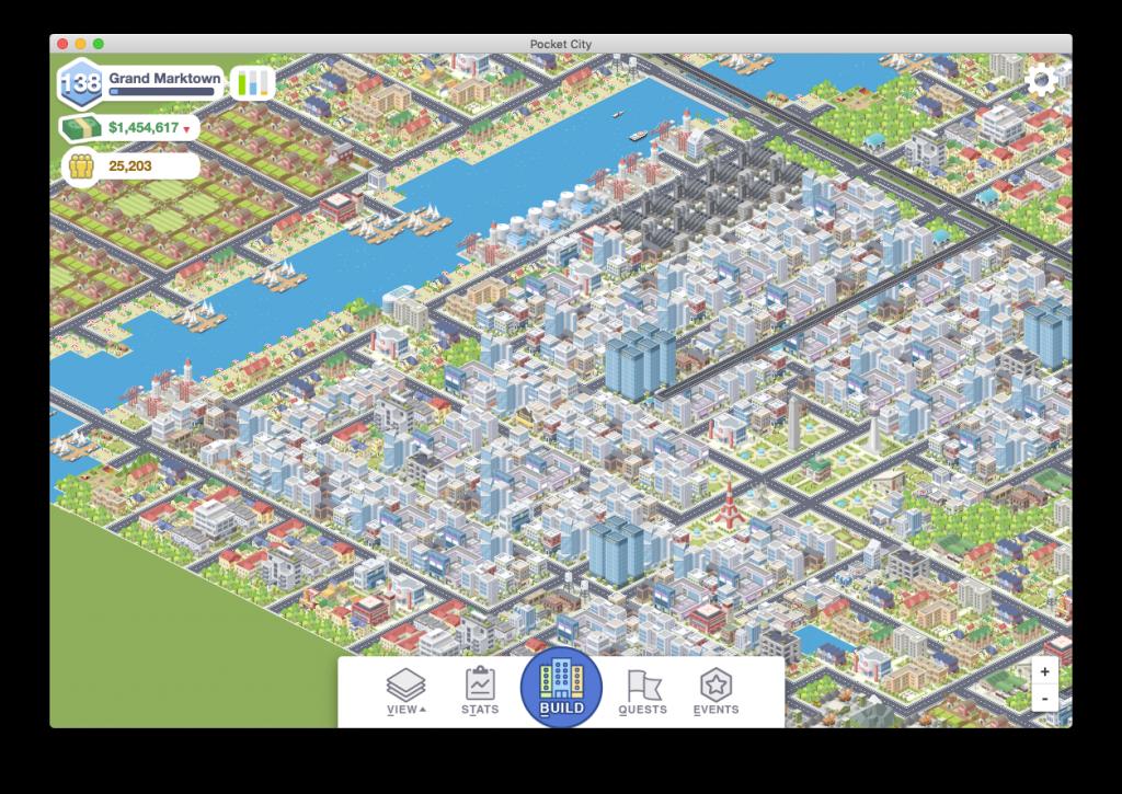 Screenshot der Mac-Version von Pocket City