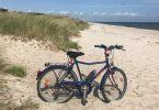 Foto Gedesby Strand mit Fahrrad