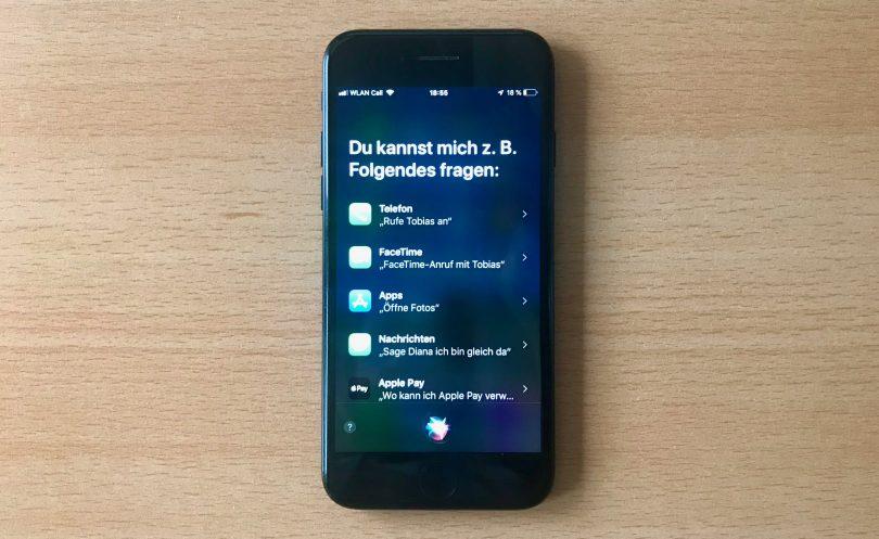 Foto von Siri auf dem iPhone