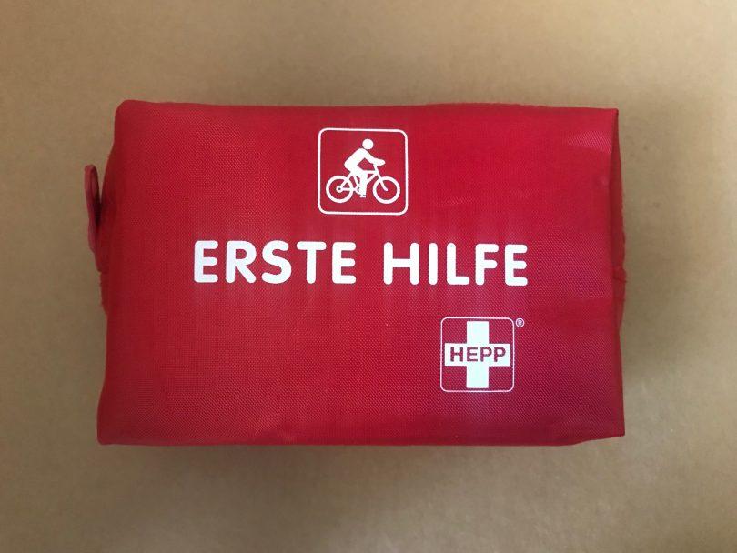Foto eines Erste-Hilfe-Sets für Radfahrer
