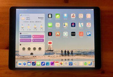 Foto meines iPads mit iPadOS