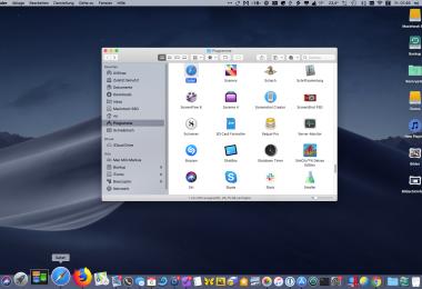 Screenshot Cmd-Klick im Dock von macOS