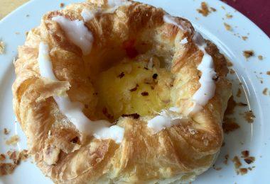 Foto eines Stücks Wienerbrød