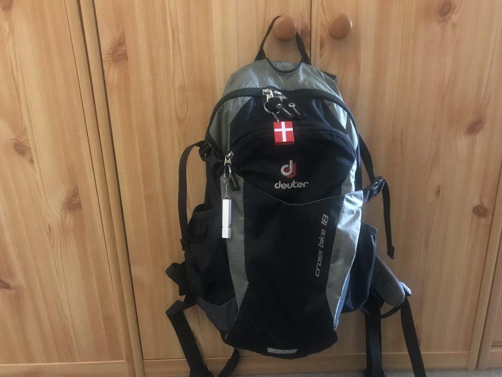 Foto meines Fahrrad-Rucksacks