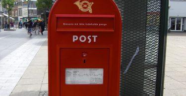 Foto eines Briefkastens in Dänemark