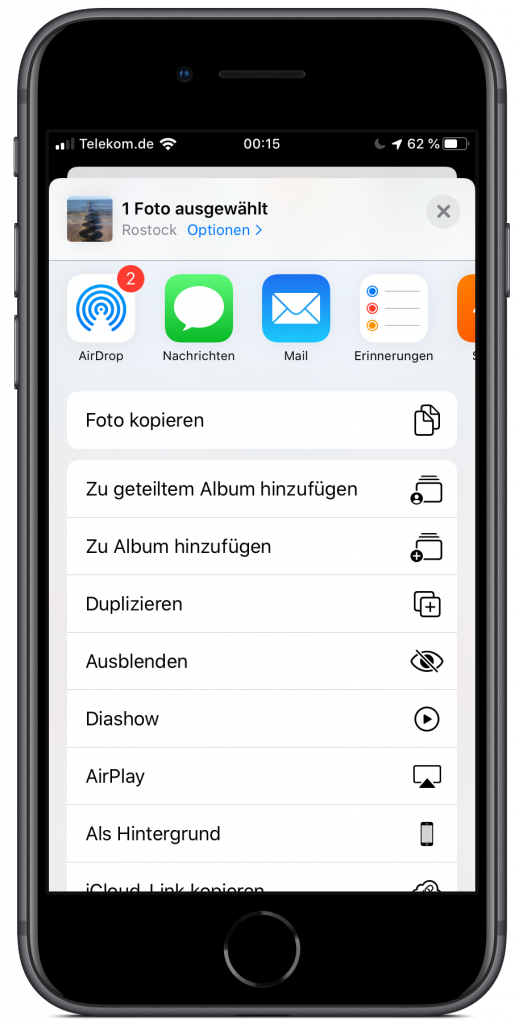 Share-Sheet unter iOS 13