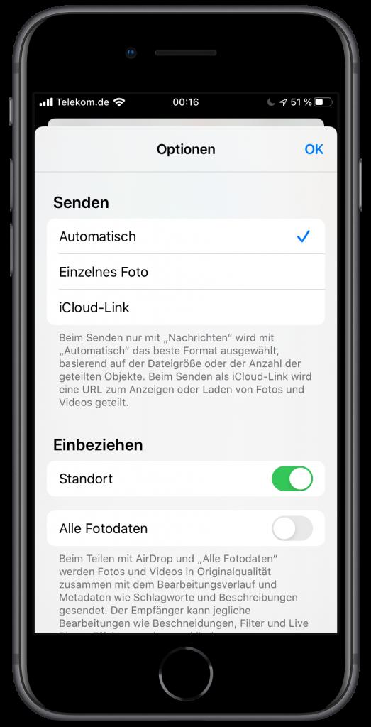 Share-Sheet unter iOS 13 mit Overlay