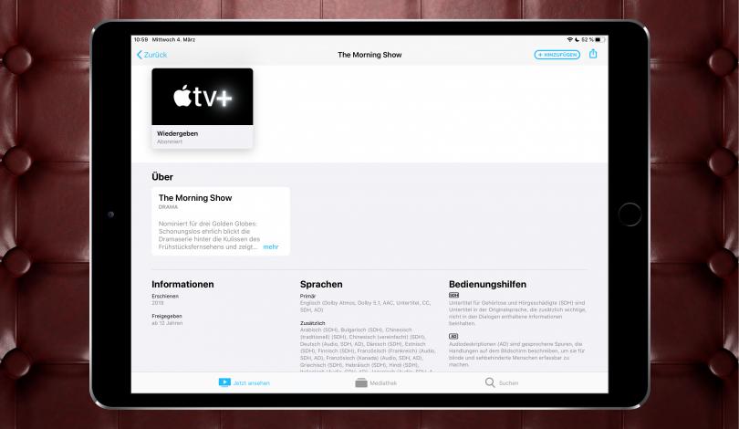Apple TV+ (Screenshot)