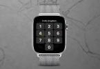 Foto einer gesperrten Apple Watch