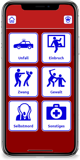 DeafVoice Polizeibildschirm